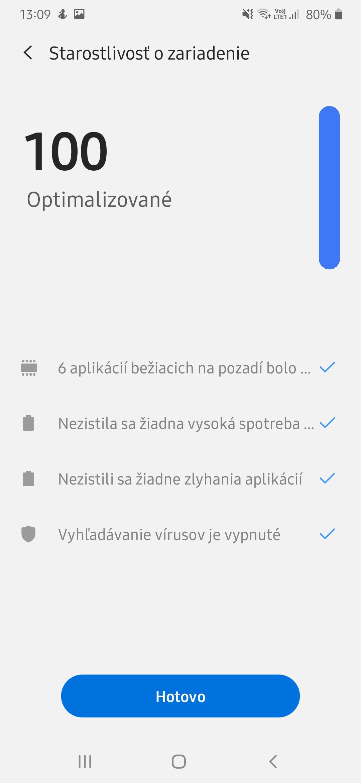 smartfon optimalizacia