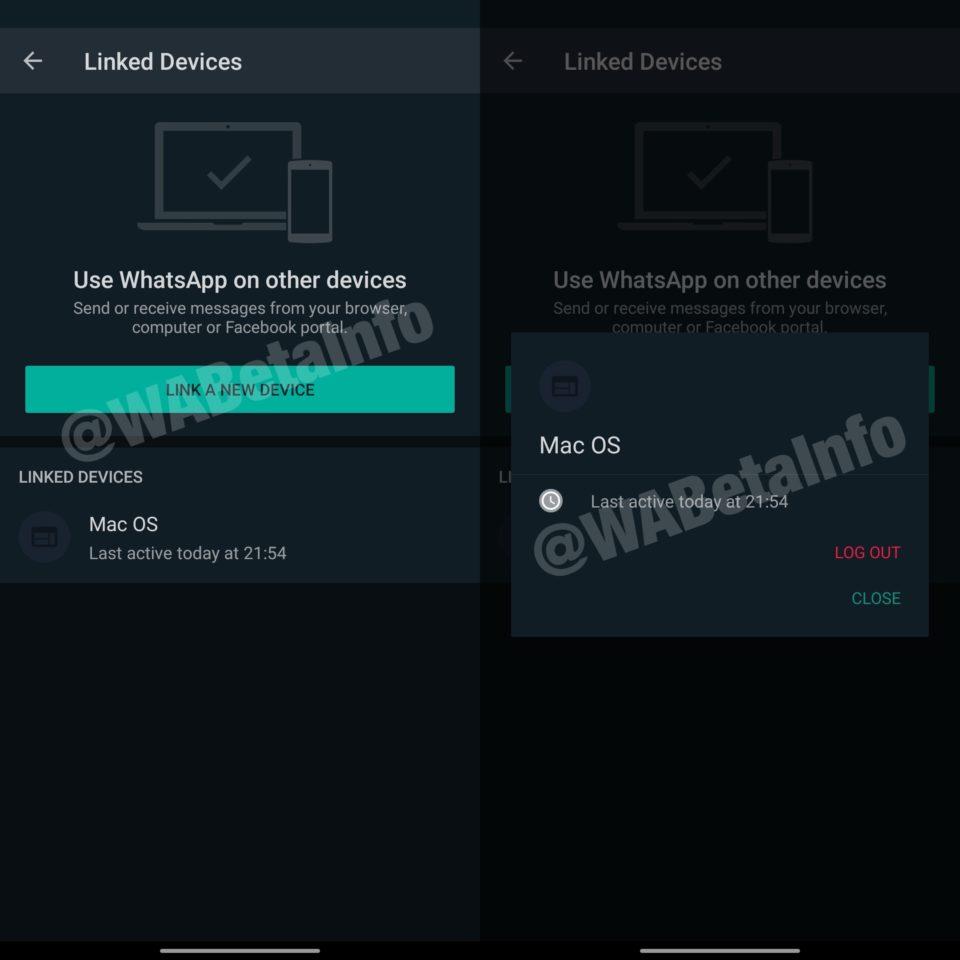 WhatsApp beta dve zariadenia
