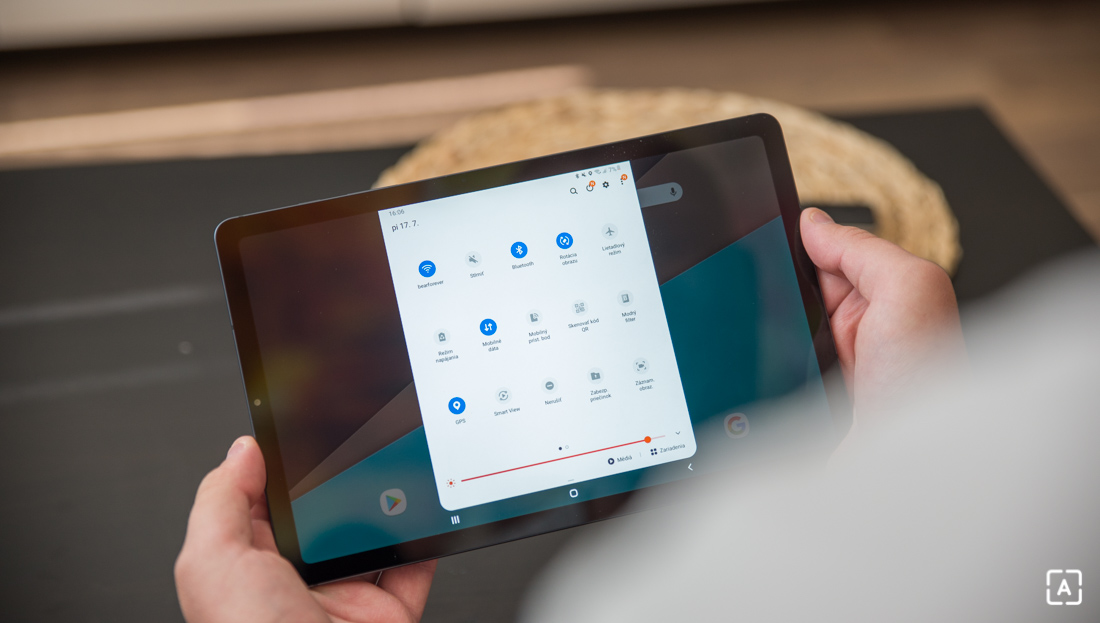 Samsung Galaxy Tab S6 Lite notifikacna lista
