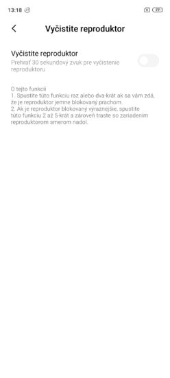 Redmi Note 9 Pro čistenie reproduktora