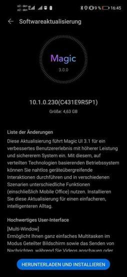 Honor 20 a Honor 20 Pro dostávajú Magic UI 3.1