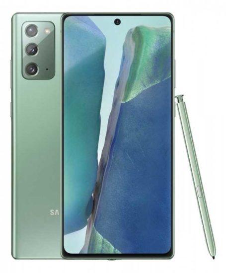 Samsung Galaxy Note 20 zelený