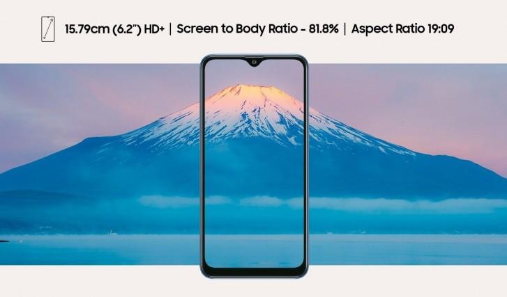 Samsung Galaxy M01s displej