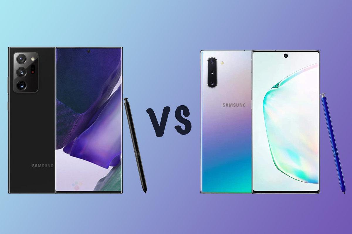 Samsung Galaxy Note 20 vs Galaxy Note 10 porovnanie