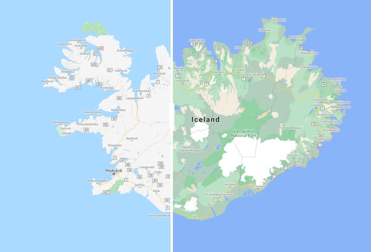 Google Mapy Island