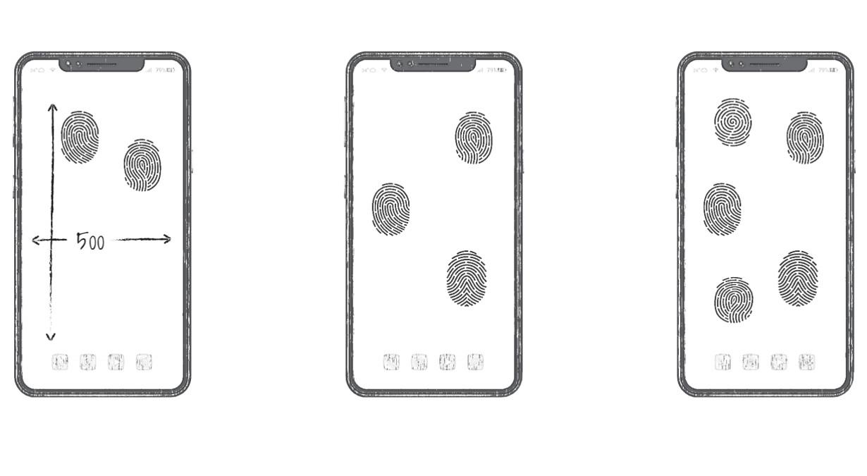 Huawei patent snímač odtlačkov prstov