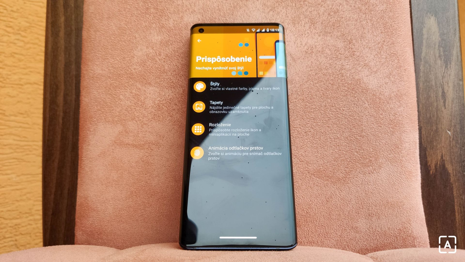 Motorola Edge prispôsobenie