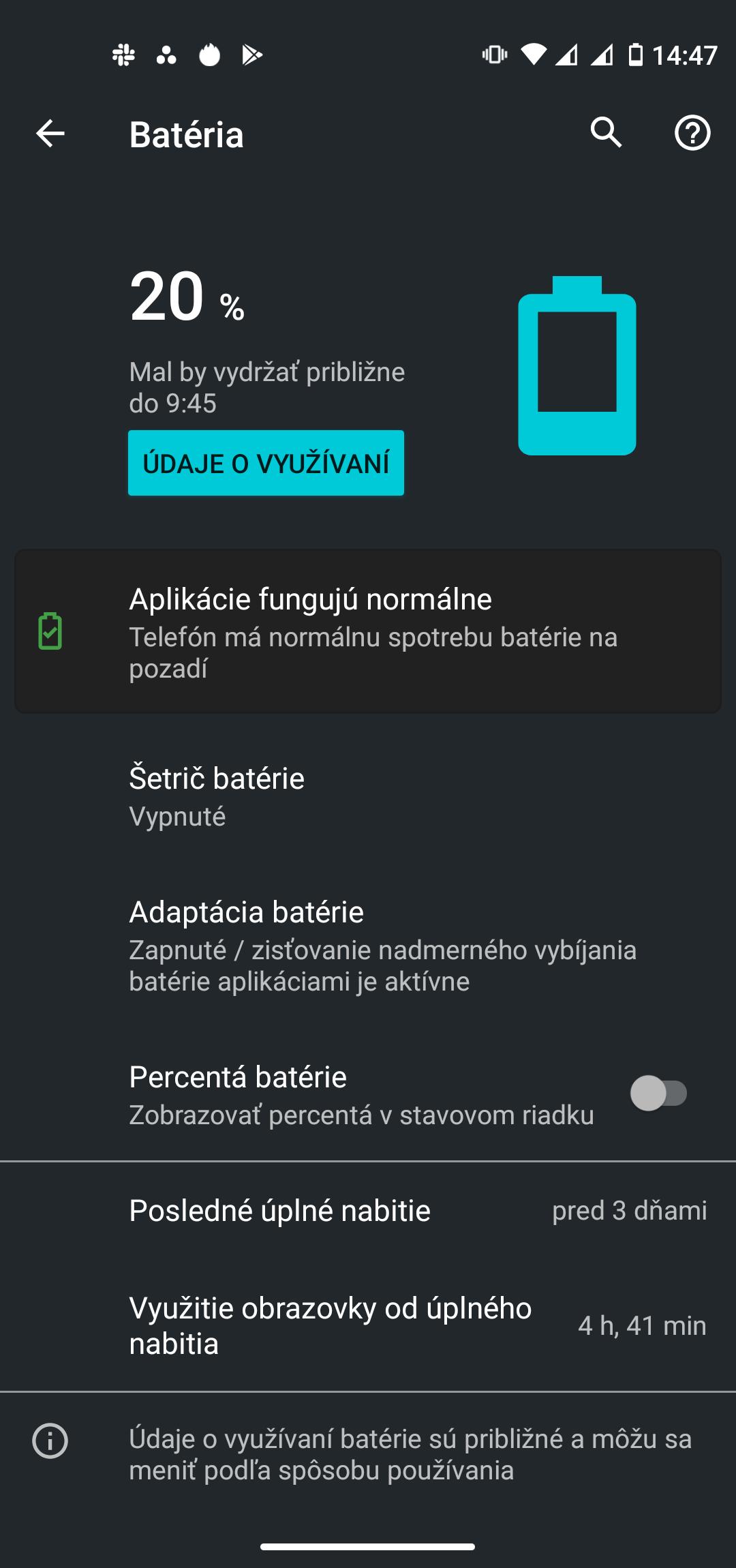Motorola moto g pro screenshot batéria