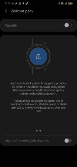 Samsung Galaxy Watch3 sa naučili detegovať pády.