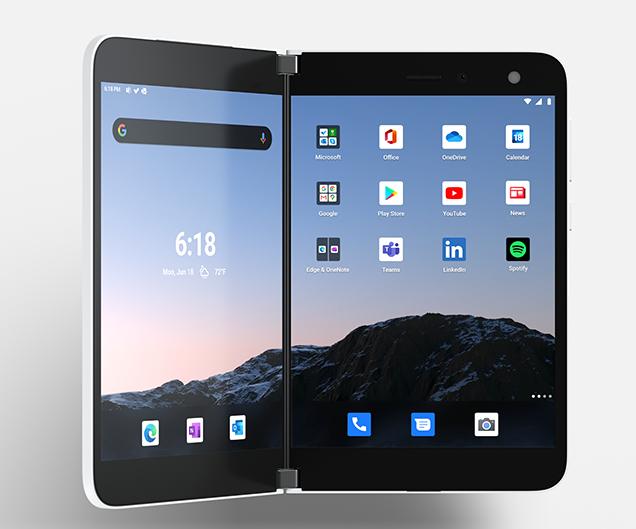 Microsoft Surface Duo displeje