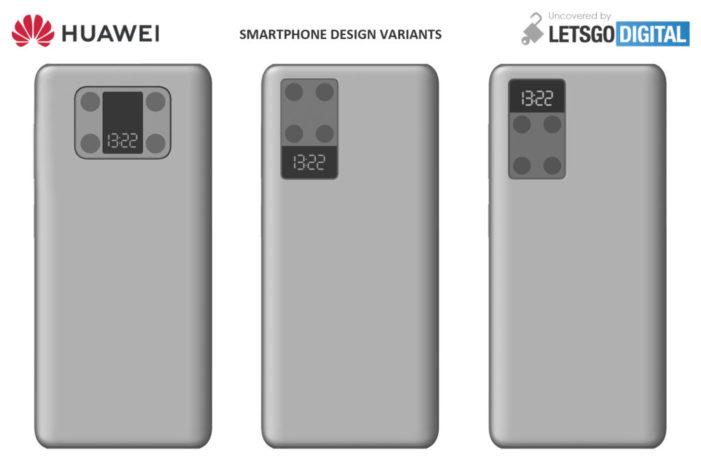 Huawei si patentoval smartfón s displejom a štyrmi fotoaparátmi