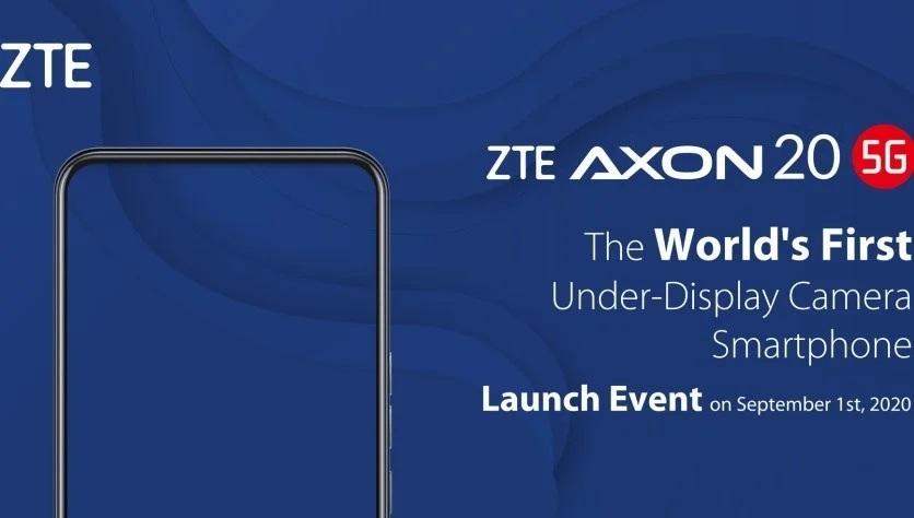 ZTE Axon 20 5G pozvánka