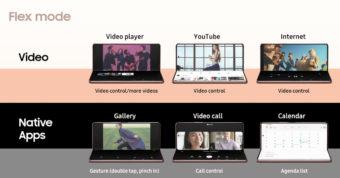 Galaxy Z Fold2 Flex Mode