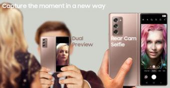 Galaxy Z Fold2 Selfie mode