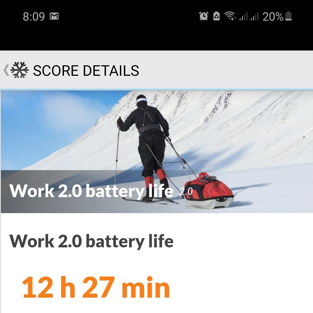 Samsung Galaxy Note 20 PCMark Batéria