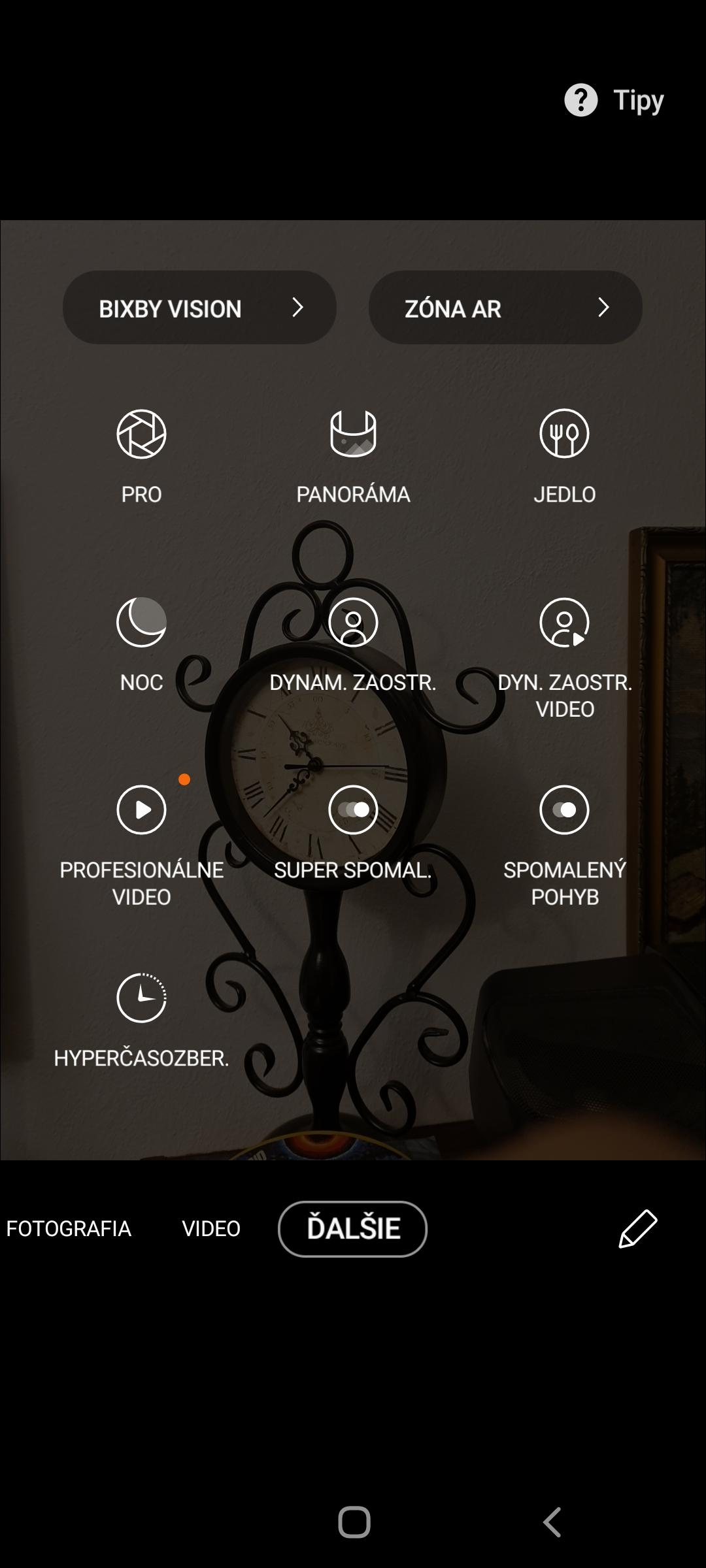 Samsung Galaxy Note 20 aplikácia fotoaparátu
