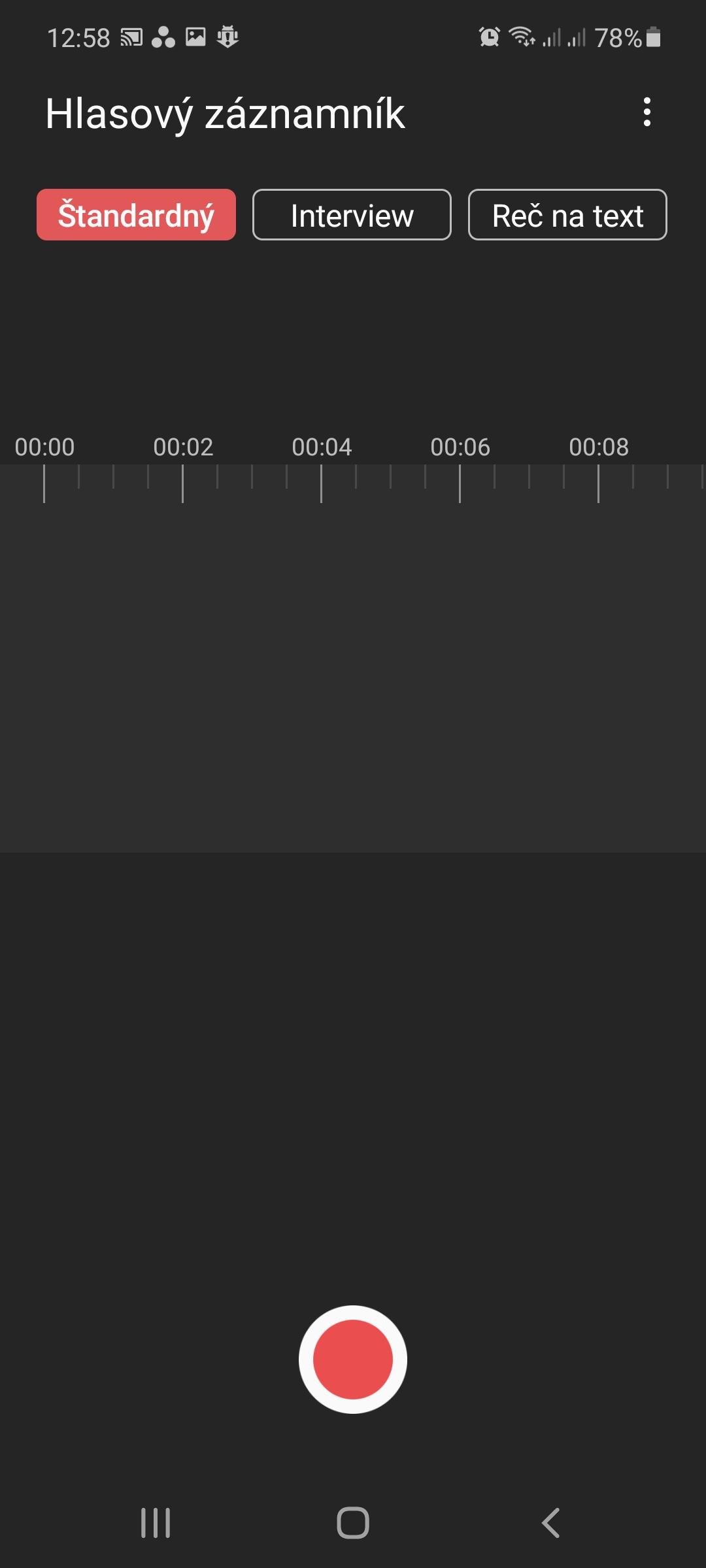 Samsung Galaxy Note 20 Záznamník