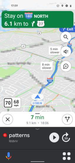 Google Mapy nové rozhranie podobné aplikácií Android Auto