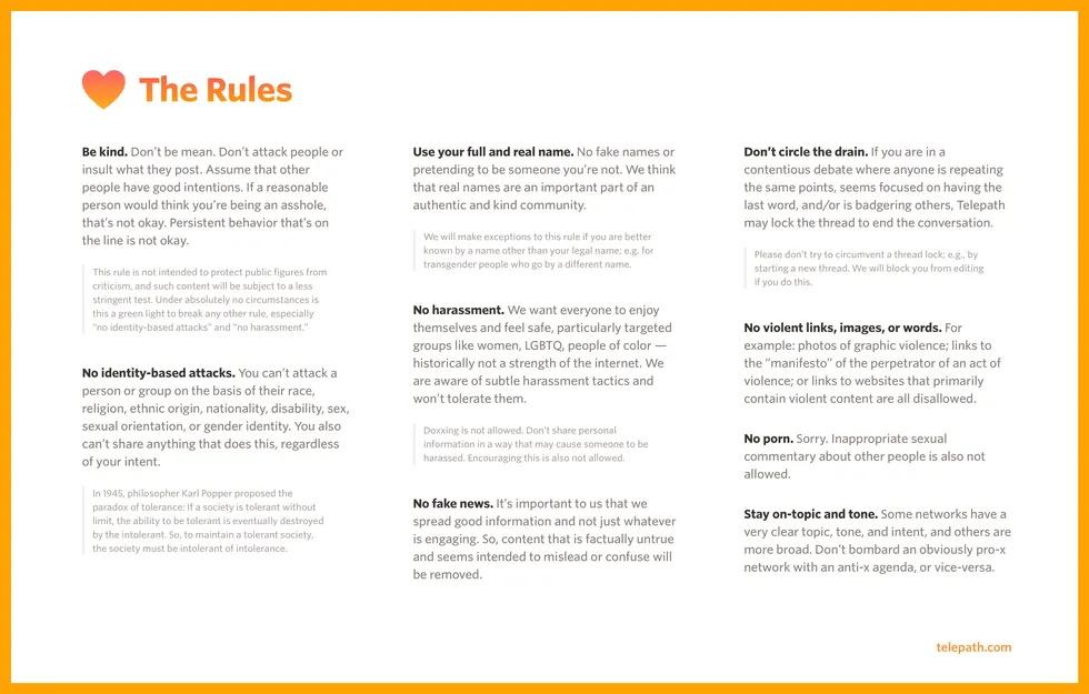 Telepath pravidlá