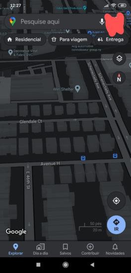 Google Mapy a ich čierny režim