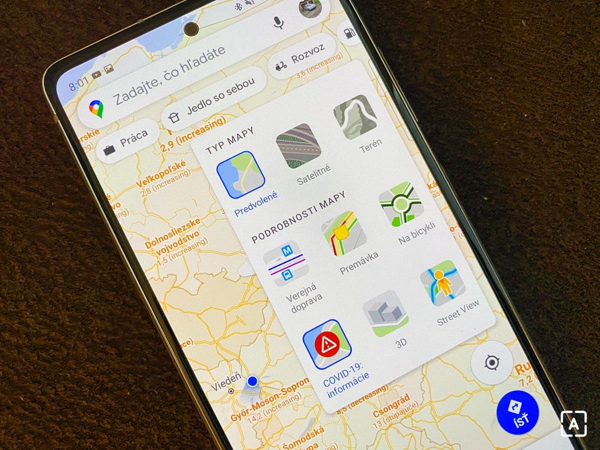 google mapy covid