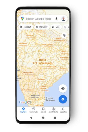 Google Mapy Covid-19 vrstva 1
