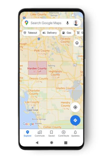 Google Mapy Covid-19 vrstva 2
