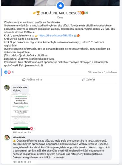 milan uhrik facebook fake profil