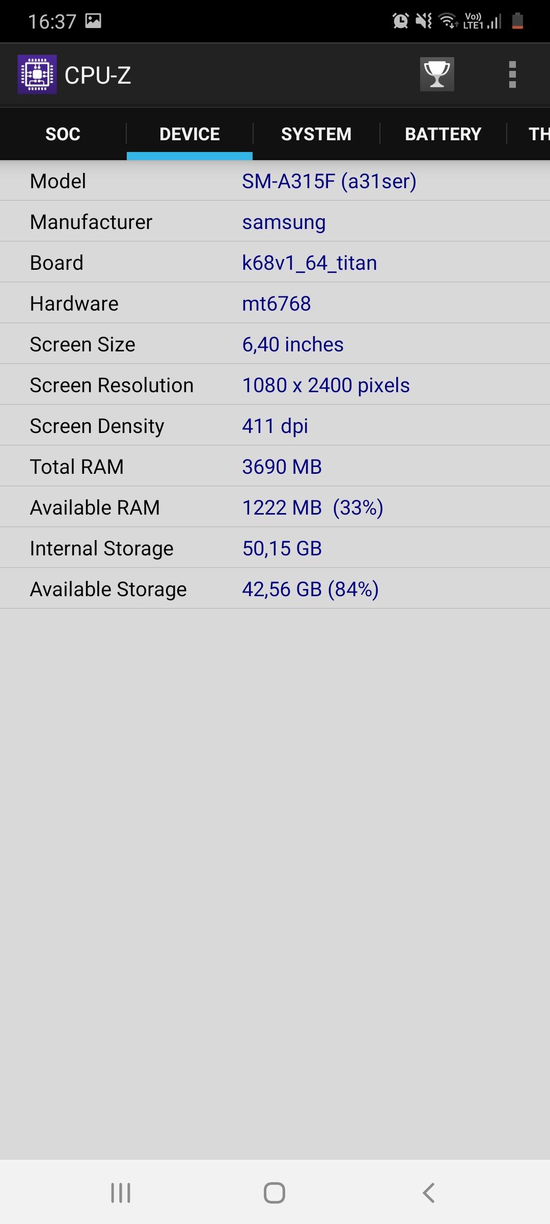 Galaxy A31 vykon a pamat (2)