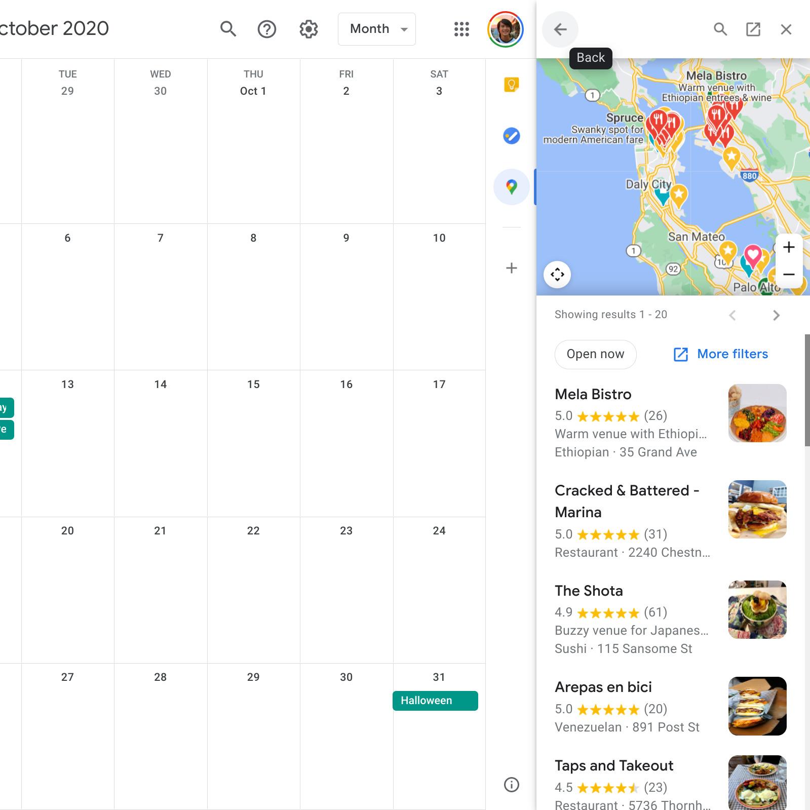 Google Kalendár doplnok Google Mapy 2