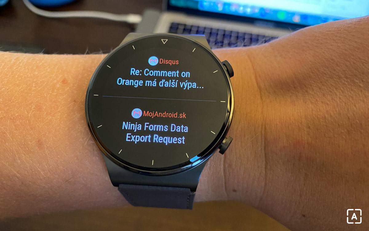 Huawei Watch GT 2 Pro notifikacia