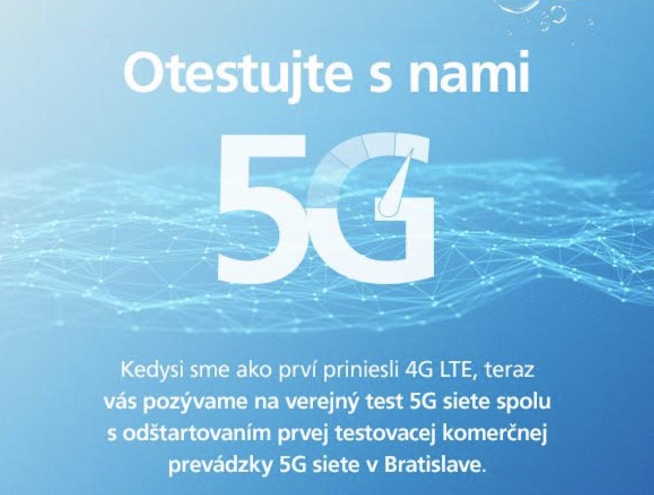O2 5G test spustenie