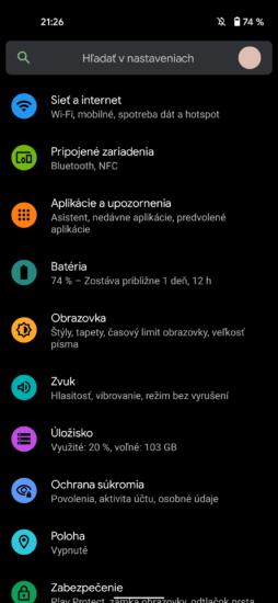 Pixel 4a Systém 4