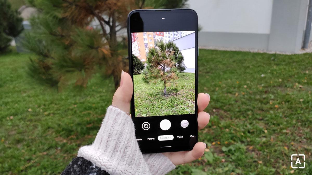 Pixel 4a aplikácia kamery