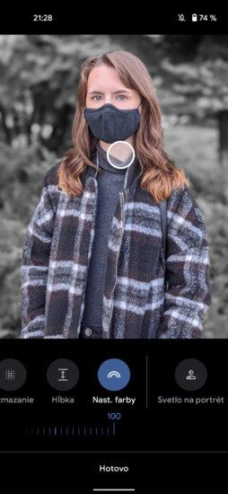 Pixel 4a úprava portrétov 3