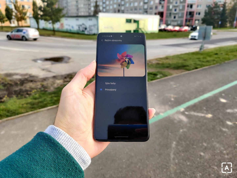 Samsung Galaxy M51 farby displeja