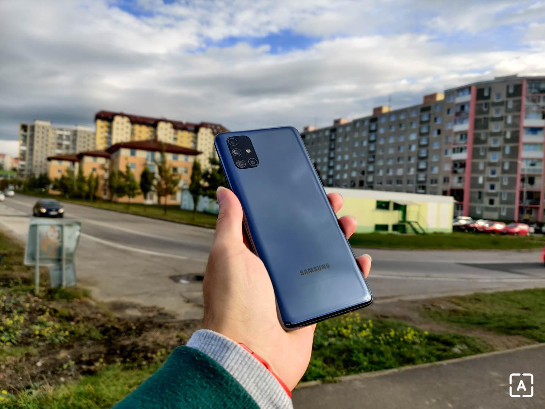 Samsung Galaxy M51 dizajn