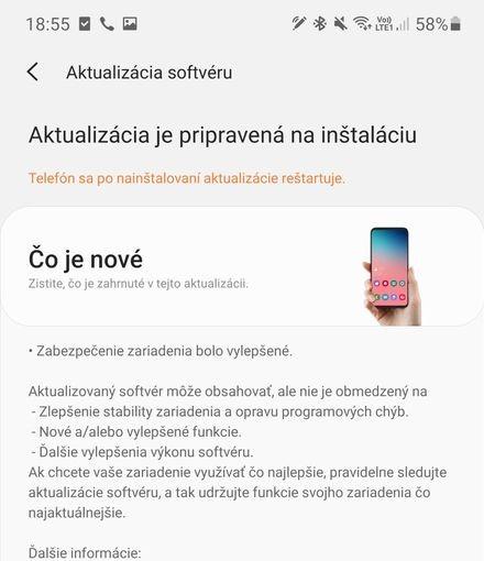 Samsung Galaxy Note 10+ aktualizácia