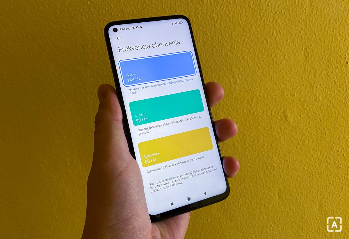 Xiaomi Mi 10T Pro 144 Hz displej