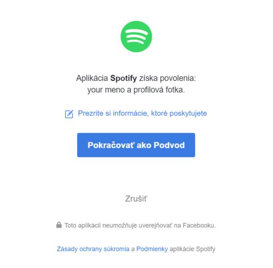 Autorizácia aplikácií Facebook