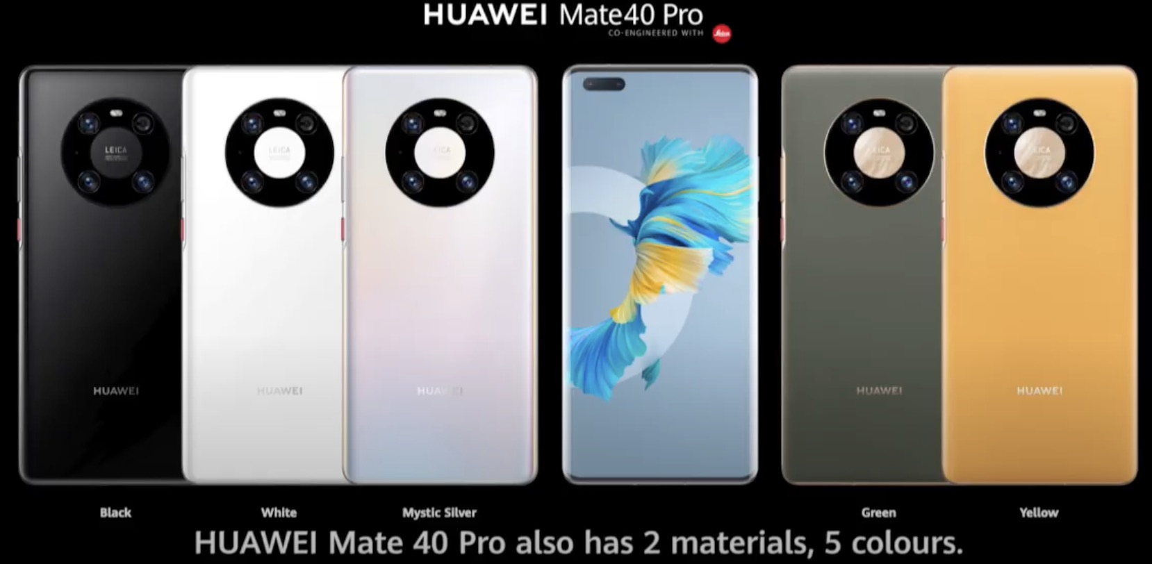 huawei mate 40 pro farby