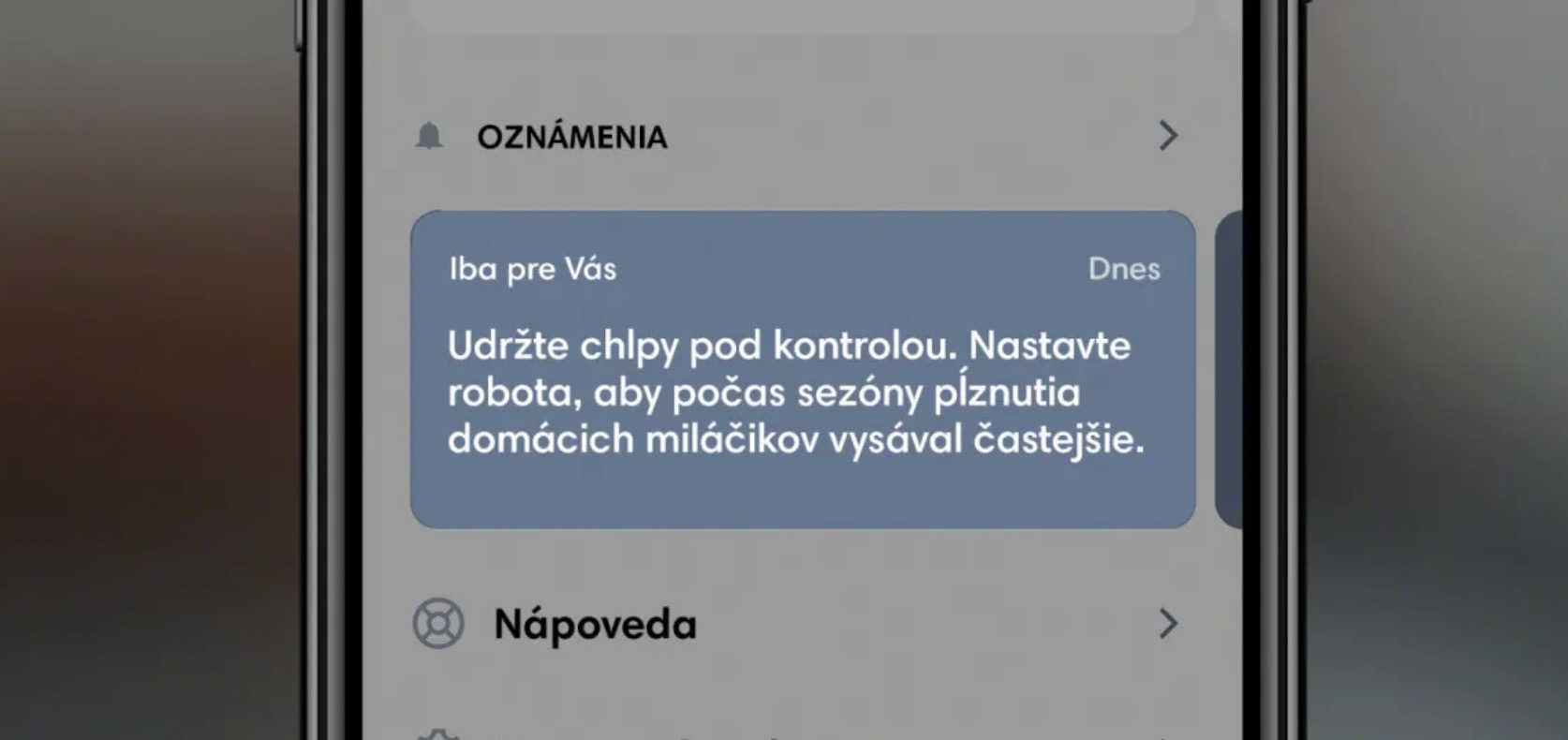 iRobot aplikacia