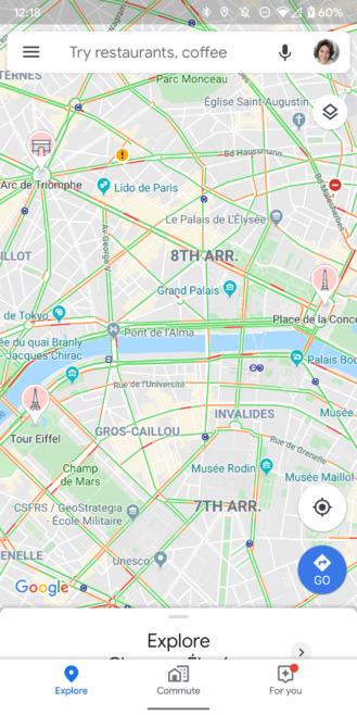 mapy google cyklisti