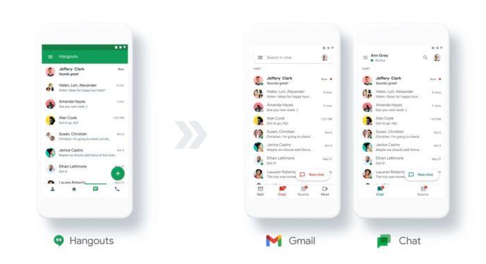 Google Hangouts sa zmení na Chat