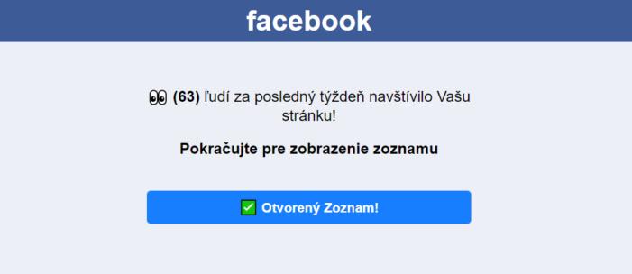 Čo sa stane, ak kliknete na podvod Facebook