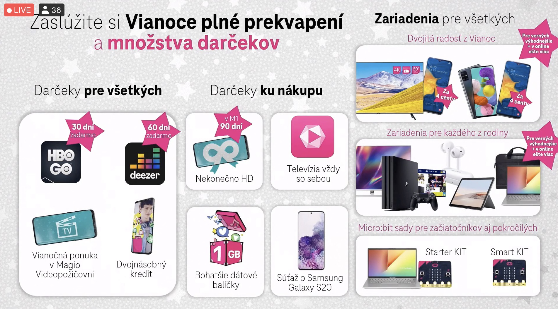 Telekom ponuka vianoce 2020