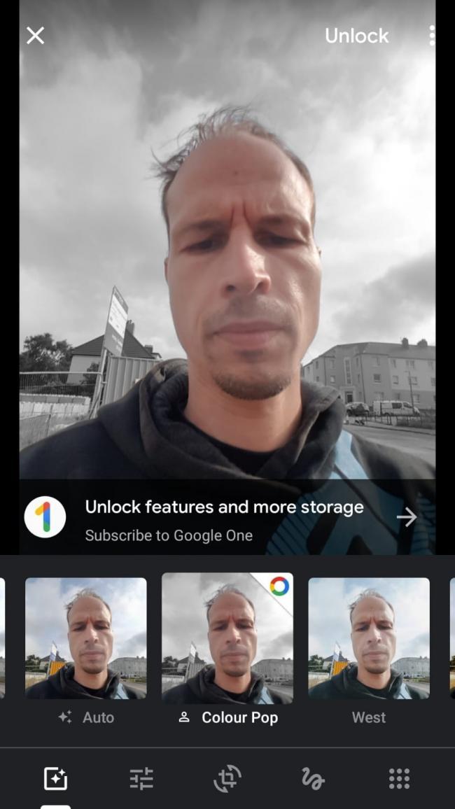 google fotky plateny efekt