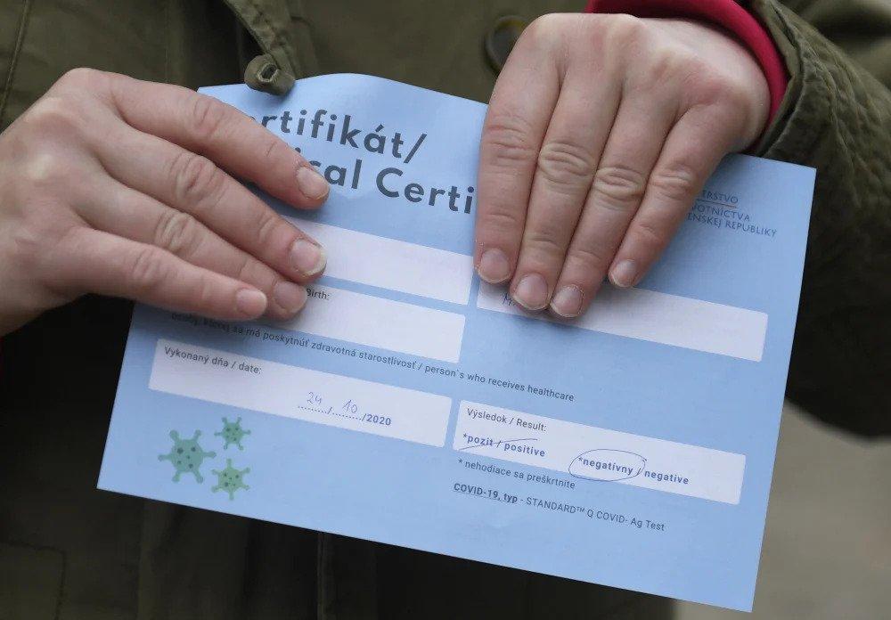 Covid-19 certifikát