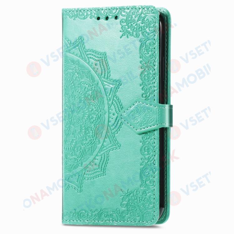 OnePlus 8T peňaženkový kryt Ornament zelený