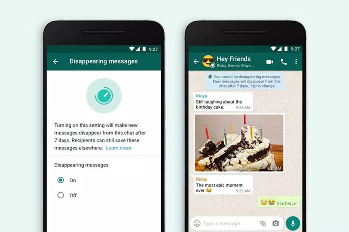 WhatsApp miznúce správy